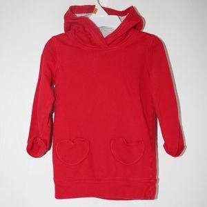 Carter's Girl 3T Red Long sleeve Hoodie Sweatshirt